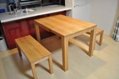 ブラックチェリーの伸縮テーブル