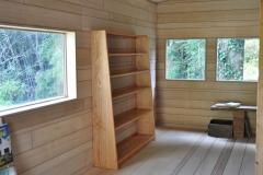 無垢の本棚